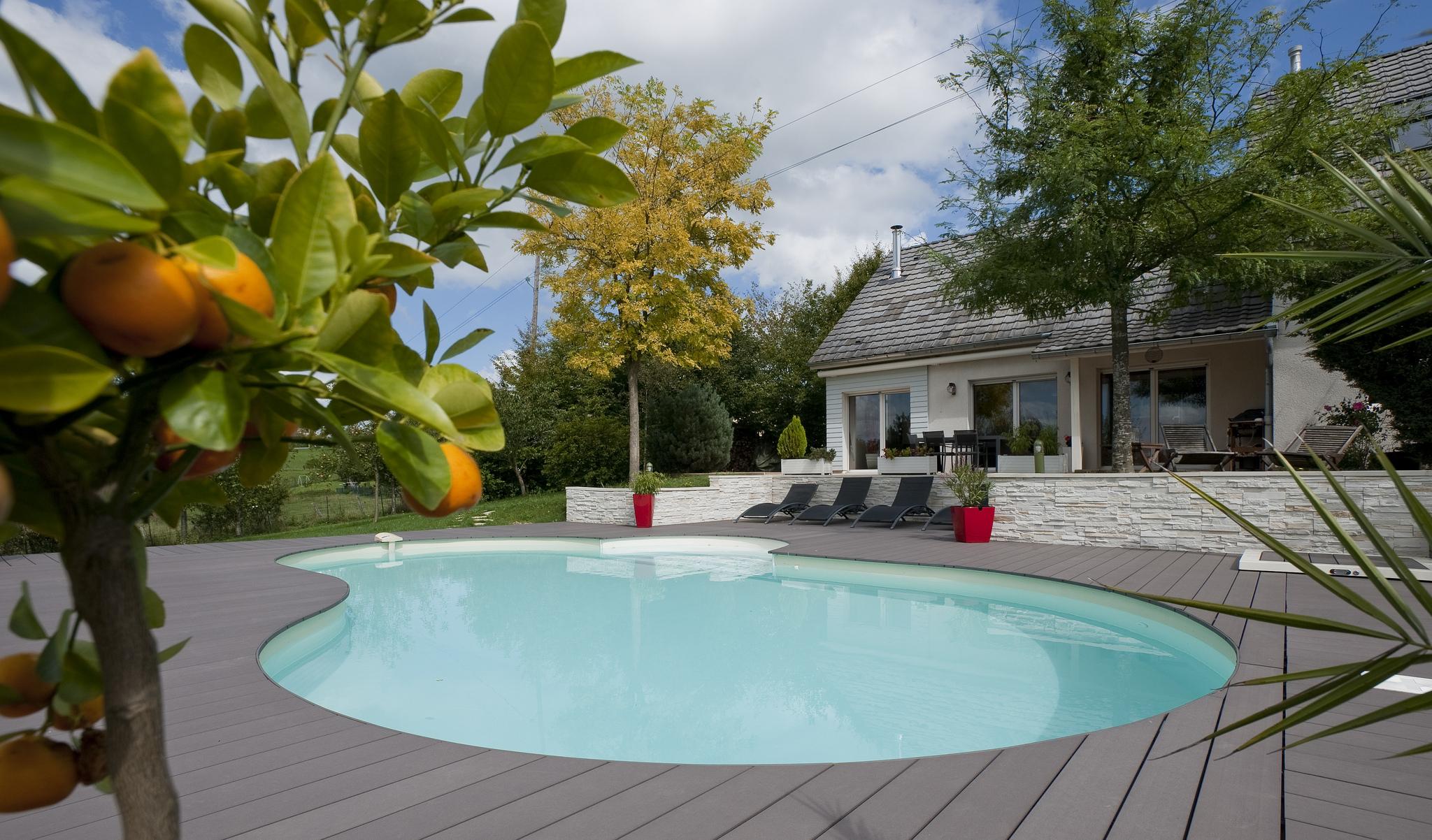 Amnagement Jardin Piscine. Simple Best Conception Jardin ...